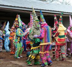 Attend a Courir de Mardi Gras in Mamou, Louisiana