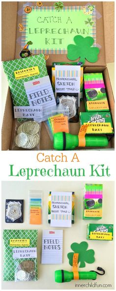 DIY Gift Idea for St. Patrick's Day -- Catch a Leprechaun Kit! My kids would LOVE this!!