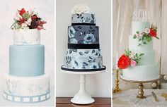 Beautiful Blue Wedding Cakes - hot for 2015