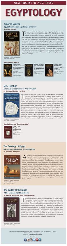 Announcing 4 phenomenal new books in the feilds of Egyptology... visit www.aucpress.com for more information about these publications, or purchase through Amazon.  #egyptology #egypt #ancientegypt #ancient #oldworld #antiquity #archaeology #books #auc #aucpress #aucegypt