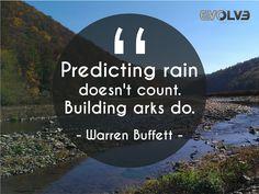 #Predicting rain doesn't count. #Building arks do.- Warren Buffett #Architecture #Construction #Decor #DecorationBuilding