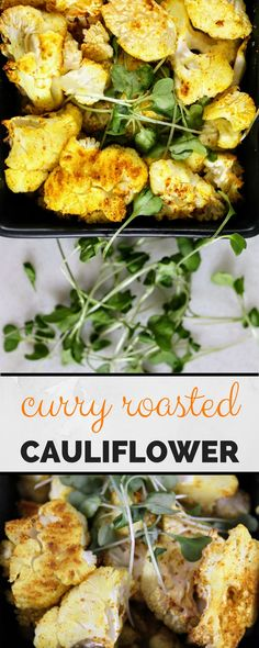 A unique vegetables recipe! -- Curry Roasted Cauliflower - whole 30 compliant, paleo & delicious! Super easy with little prep time. Healthy Side Dishes, Side Dishes Easy, Vegetable Side Dishes, Side Dish Recipes, Easy Dinner Recipes, Easy Meals, Healthy Sides, Delicious Recipes, Healthy Vegetable Recipes