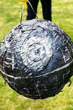"""Death Star Pinata - Click on """"View Party"""" to see the actual shindig. Tips on making this lovely Death Star"""