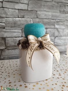 Kék karácsony  (ranyomlak) - Meska.hu Decoupage, Merry, Vase, Home Decor, Decoration Home, Room Decor, Jars, Vases, Interior Decorating