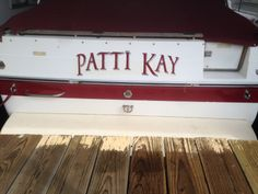 Transom name for a 268 SeaRay