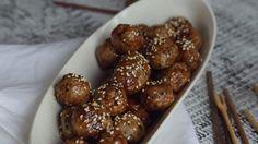 Boulettes collantes asiatiques Asian Recipes, Beef Recipes, Healthy Recipes, Ethnic Recipes, Easy Weeknight Meals, Easy Meals, Quebec, Fingers Food, Good Food