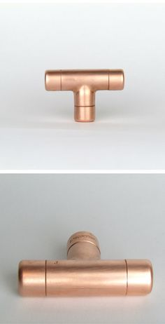 cabinet Knobs Contemporary - Modern Copper T Knob Contemporary Drawer Pull, Handle, Knob Cabinet knob, Kitchen Cabinet knob Kitchen Door Pull Kitchen Cabinet Knobs, Kitchen Doors, Kitchen Handles, Drawer Handles, Drawer Pulls, Door Handles, Pull Handles, Drawer Knobs, Kitchen Cabinets