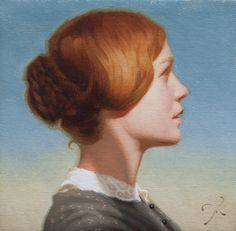 """Miss Eyre"" by Athanasios Deshields (oil painting, alla prima, fine art, traditional, portrait, illustration, jane eyre, bronte)"