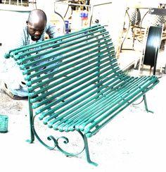 Orticolario EDIZIONE 2014 #orticolario2014. #recuperando WWW.RECUPERANDO.IT preparation work - forged iron bench