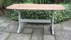 Vintage Ercol refectory style table - beautiful wood top - painted base. Refurbished with love by   Fleur Vintage x