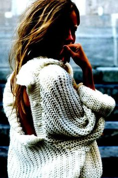 Cozy looking sweater.