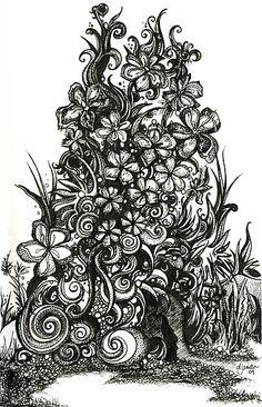 Overgrown Garden | Danielle J. Scott (Smith) via Flickr - http://www.redbubble.com/people/djsmith70/works/4363994-79-overgrown-garden