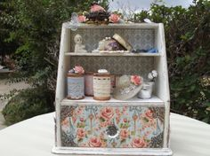 Secret Garden Vintage Cabinet by Elizabeth Russell shared on our Ning gallery #graphic45 #alteredart