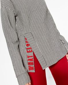 976f507b9bb401 embroidered text   MORE   Zara Embroidered Shirt