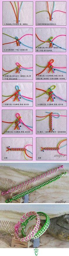 Do It Yourself Just Like That: Macrame Bracelet - Tutorial