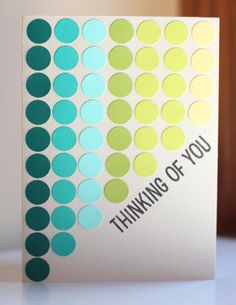 Thinking of You card by Kalyn Kepner featuring Bazzill Basics cardstock - www.paperislove.com