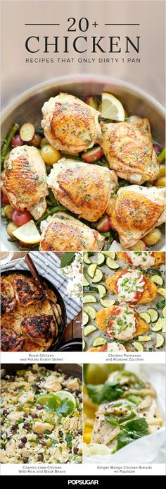 Don't feel like doing the dishes? That's fine, because with any of these recipes, you won't have to. Choose from any of these 20+ chicken dinners that only dirty one pan for a well rounded dinner without the mess.