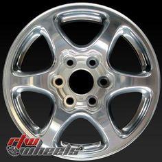 "GMC Yukon OEM wheels 2002-2007 17"""" Polished rims 5132"