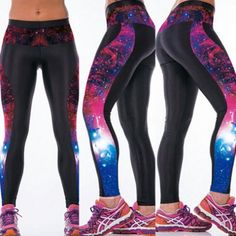 So Sexy Womens YOGA Workout Gym Digital Printing Sports Pants Fitness Stretch Trouser New Arrival Workout Leggings, Workout Pants, Women's Leggings, Leggings Are Not Pants, Tights, Waist Workout, Gym Pants, Sport Pants, Yoga Pants