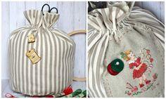 puntocroce e fantasia Christmas 2016, Bucket Bag, Blog, Decor, Fantasy, Cross Stitch, Decoration, Blogging, Decorating