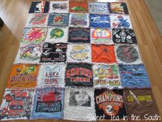 How to Make a T-shirt Rag Quilt (the non-quilter's quilt)