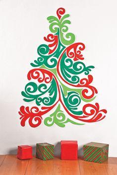 Árboles de Pared. Ideales para decorar un departamento u oficina esta Navidad…