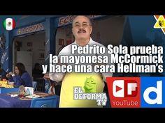 Pedrito Sola prueba la mayonesa McCormick y hace una cara Hellman's