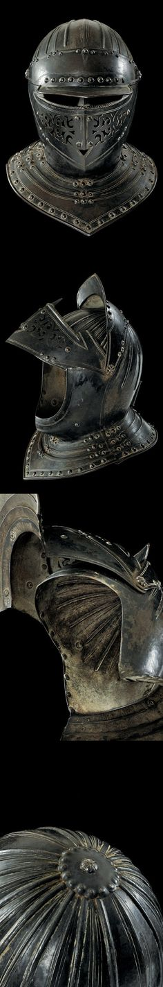 A helmet of the guard of King Louis XIII of France, 1610.