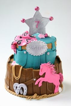 """cowgirl cake - a """"not-so-sweet horse cake"""" for a sweet little girl (Emma) Eriksson Eriksson Haarer"""