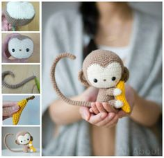 HOW TO MAKE A CROCHET MONKEY...this is absolutely adorable & looks pretty simple to make!! http://www.allaboutami.com/post/138550765296/monkey
