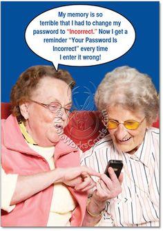 Incorrect Password Card Funny Birthday