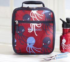Mackenzie Red Octopus Lunch Bag