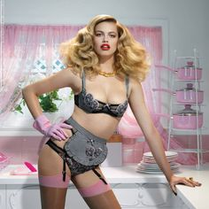 Hailey Clauson for Agent Provocateur campaign (Spring 2014) photo shoot