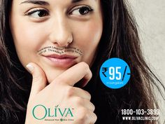 Smooth silky skin without the continuous need and hassle of shaving, waxing, or #hairremoval creams is now possible with the advanced permanent laser hair removal at Oliva Clinics. Experience the pain free and hassle free way of hair removal with laser at just Rs. 95. Say hello to Oliva Clinics on 1800-103-3893  Know how and where laser hair removal works,
