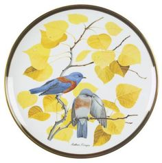 Franklin Mint Songbirds of the World: Western Bluebird - Artist: Arthur Singer