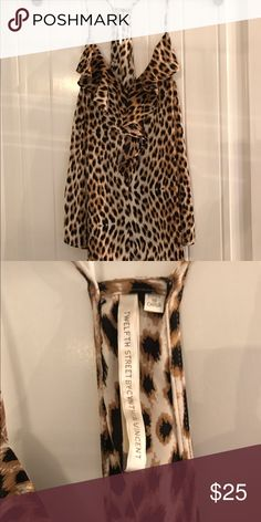 Leopard Tank (Twelfth Street by Cynthia Vincent) Beautiful flowing silk tank top is perfect for an elegant occasion or a night out! Size small Twelfth Street by Cynthia Vincent Tops Blouses