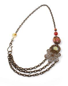 Vintaj - N0622 - Flower Path Necklace