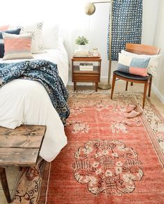 Rugs In Living Room Turquoise - - Striped Kilim Rugs - - Large Area Rugs Over Carpet Indigo Bedroom, Bedroom Inspo, Home Decor Bedroom, Bedroom Ideas, Small Room Bedroom, My Room, Master Bedroom, Teen Bedroom, Living Room Carpet