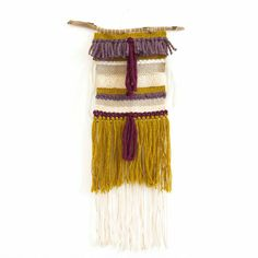 Totem // woven wall hanging // tapestry weaving par totembypoppy