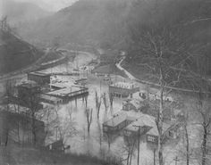 McDowell County - McDowell County Flood - 1936. 1936 Flood in the area of the old Welch Emengency Hospital and McDowell County Board of Education buildings.  Photo contributed by: Danny & Patti (Tabor) Crigger