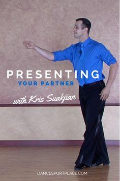 Free video! Ballroom partnering with DanceSport Place coach, Kris Suakjian (World & U.S. Professional Smooth finalist)