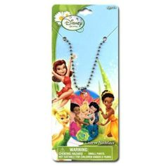12-Pack Disney Fairies Tinkerbell Metal Dogtag Charm Necklaces by H.E.R. Accessories. $24.00. 12 metal necklaces featuring Disney fairy Tinkerbell with some of her fairy friends.  Makes a great party favor!