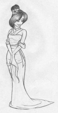 Disney - Mulan Sketch by kimberly-castello.deviantart.com on @deviantART