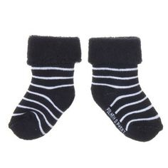 POLARN O. PYRET Classic Stripe Newborn Socks - 1-4 months/Navy classic PO.P striped soft terry socks.  #Polarn_O._Pyret #Apparel