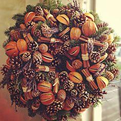Wreath - Lavender, Oranges, Pine Cones and Cinnamon