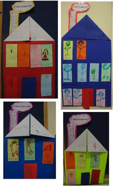 to spiti tis oikogeneias Preschool Class, Kindergarten Art, Family Theme, My Family, English Activities, Preschool Activities, Art For Kids, Crafts For Kids, Home Themes