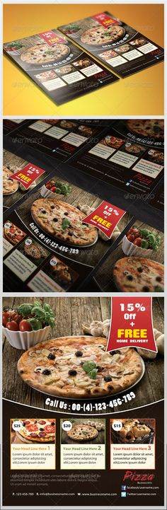 Pizza Delivery Flyer V  Pizzas Pizza Logo And Flyer Template