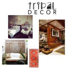 """Tribal Decor"" by evachasioti on Polyvore featuring interior, interiors, interior design, home, home decor, interior decorating and tribaldecor"