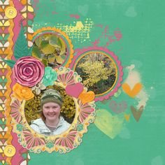 Fall photos by Kaytea. Digital Scrapbook Layout. Uses Border Me Cluster template By Brenian Designs and Autumn Crush by Lisa Rosa.