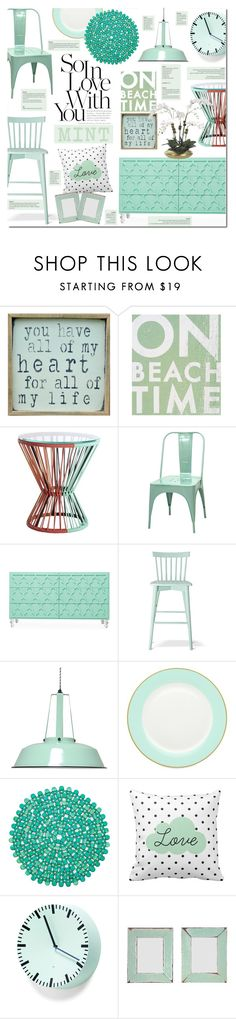 """Love Mint"" by justlovedesign ❤ liked on Polyvore featuring interior, interiors, interior design, home, home decor, interior decorating, Pink Marmalade, Go Jump in the Lake, CB2 and Dot & Bo"